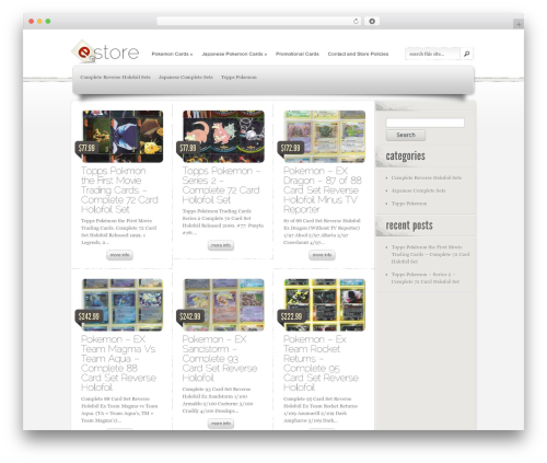 eStore WordPress ecommerce theme - raiderspokemoncards.com