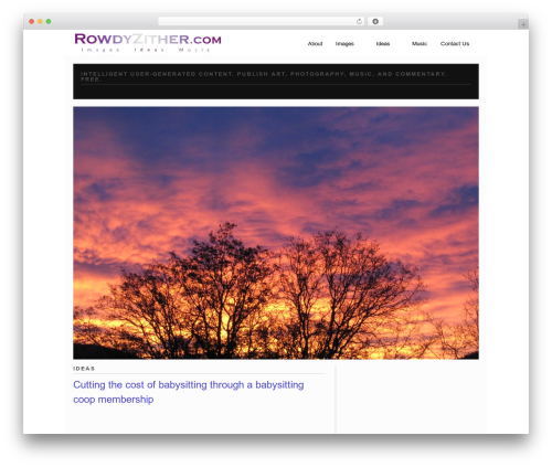 Modfolio template WordPress - rowdyzither.com