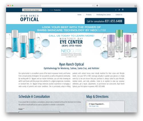 Monterey Eye Theme WordPress theme - ryanranchoptical.com