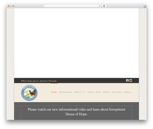 Pro WordPress template - recoveryhouseofhope.org