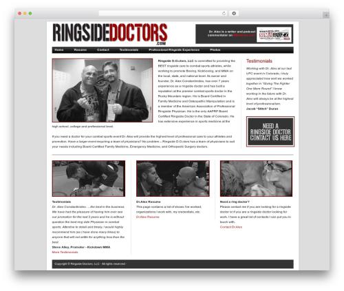 Revolution top WordPress theme - ringsidedoctors.com