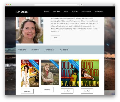 Theme WordPress Author Pro - rvdoon.com