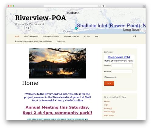 WordPress theme Twenty Thirteen - riverviewpoa.com