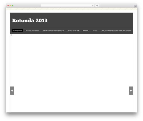 WordPress website template Liten.Pro rotunda2013 - rotunda2013.pl