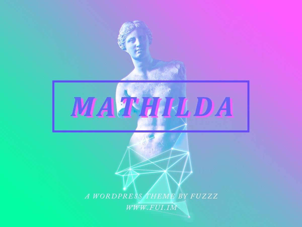 WP theme mathilda
