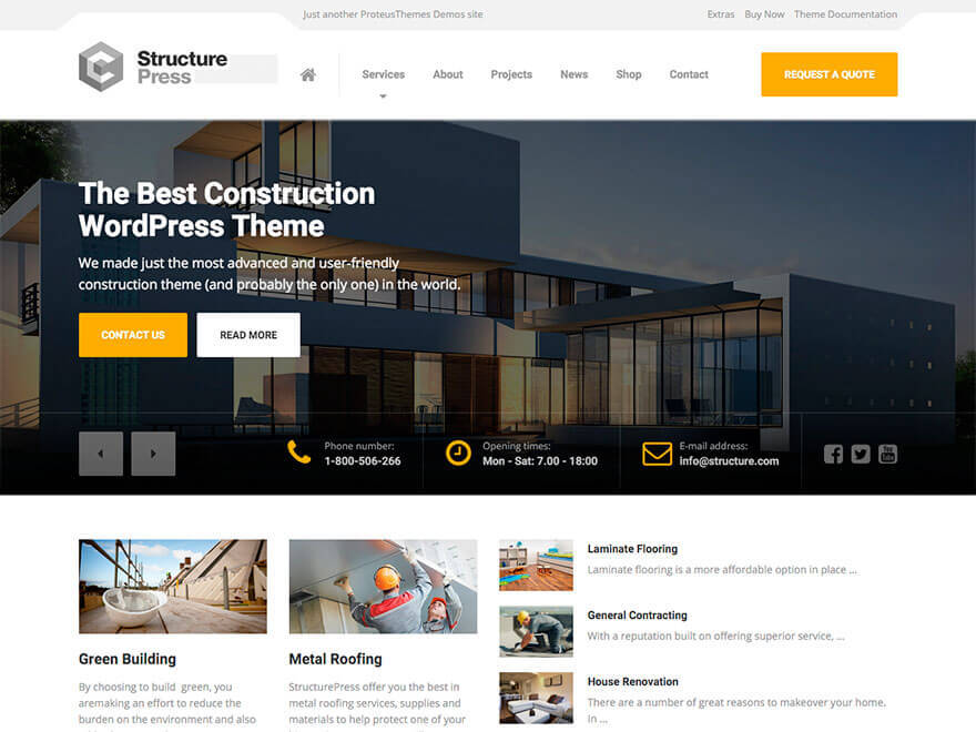 Best WordPress theme StructurePress Child Theme