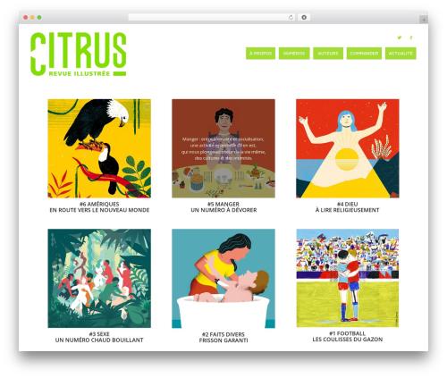 Citrus WP theme - revue-citrus.com