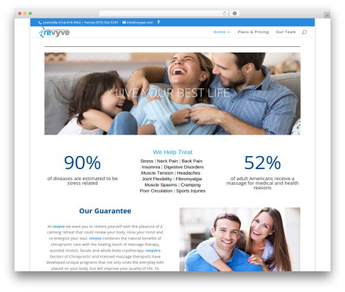 Divi massage WordPress theme - revyve.com