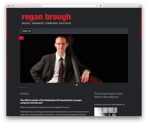 Dubstep WordPress theme - reganbrough.com