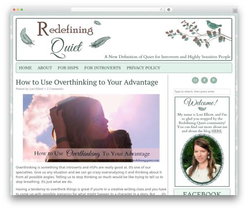 Headway Base WordPress theme - redefiningquiet.com