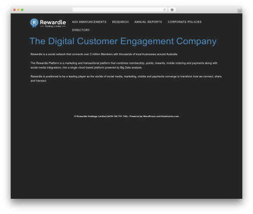 Hostmarks best WordPress template - rewardleholdings.com.au