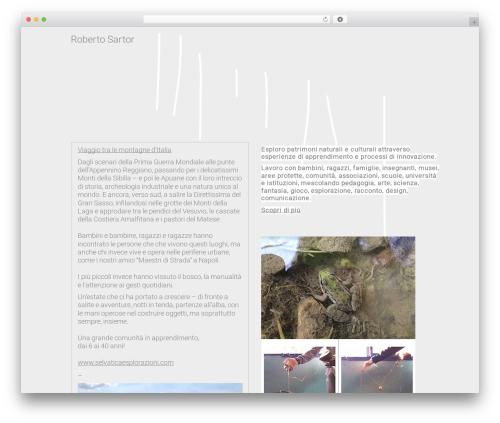 Moonbeams template WordPress - robertosartor.it