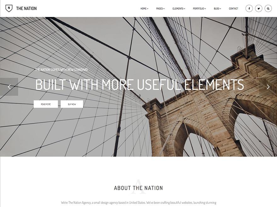Nation Child WordPress page template