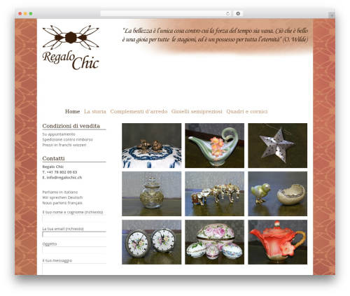 Portfolio Press free WordPress theme - regalochic.ch