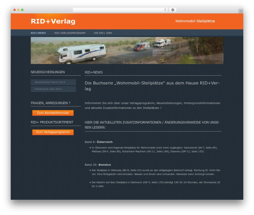 Twenty Twelve free WP theme - rid-plus-verlag.de