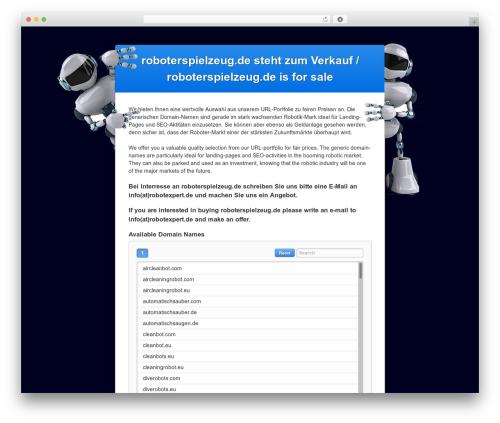 WP theme DIFSTHEME - roboterspielzeug.de