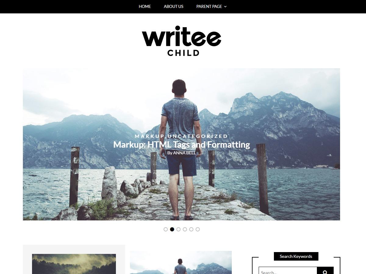 Writee Grid best free WordPress theme
