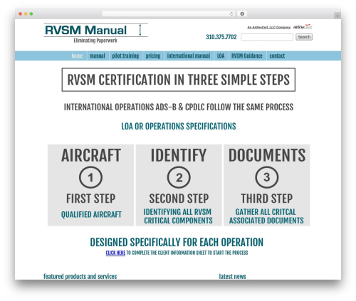 AirlineCert Theme WordPress theme - rvsmmanual.com