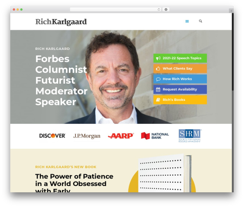 Betheme business WordPress theme - richkarlgaard.com