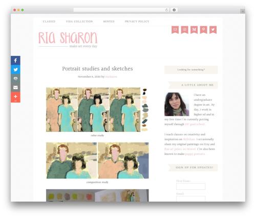 Blossom Theme WordPress theme - riasharon.com