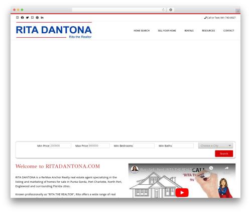 Conica free WordPress theme - ritadantona.com