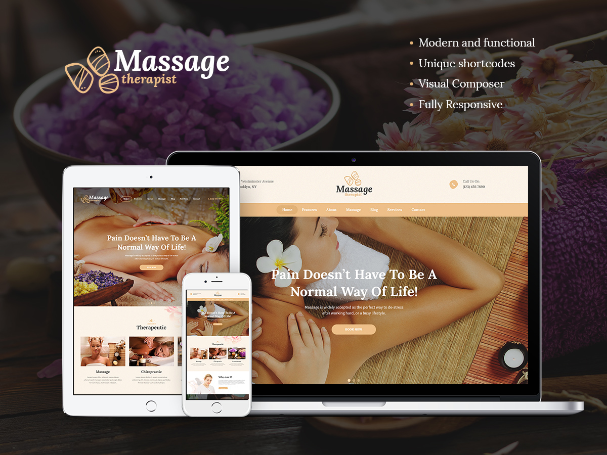 Massage Therapist massage WordPress theme