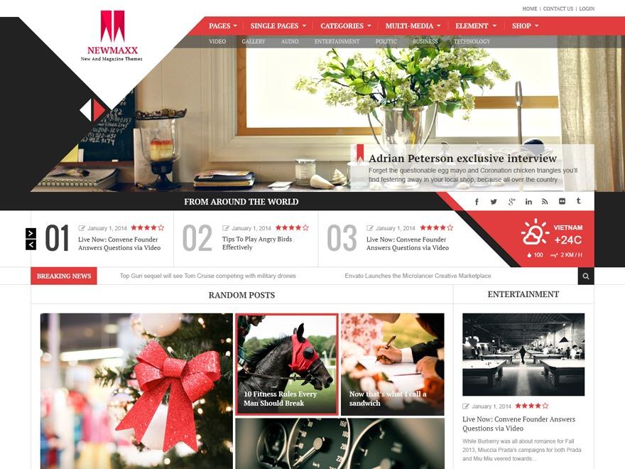 News Maxx (Share On Theme123.Net) WordPress magazine theme