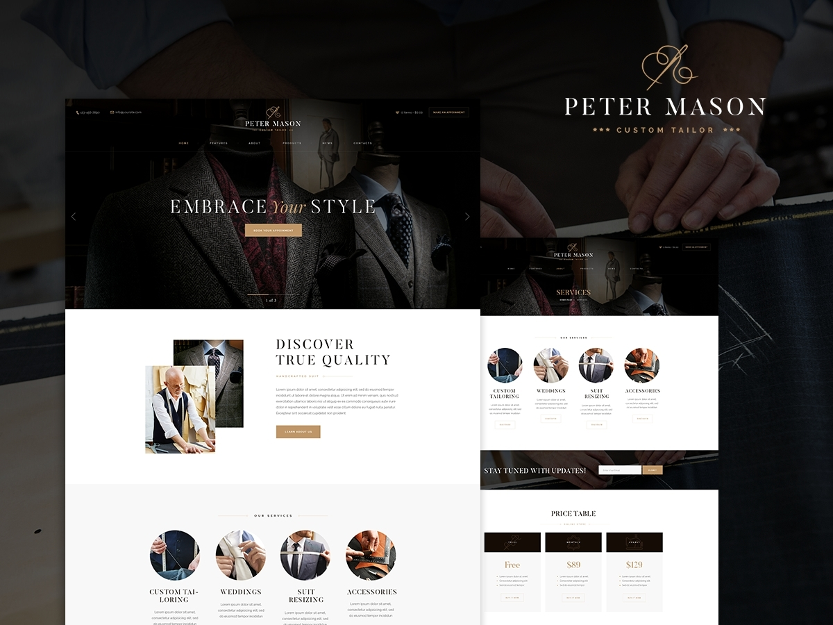 PeterMason WordPress blog theme