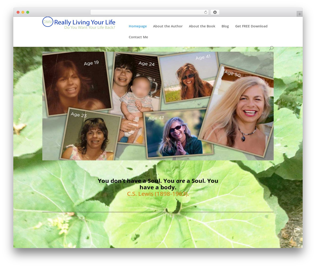 Template WordPress Divi - reallylivingyourlife.com