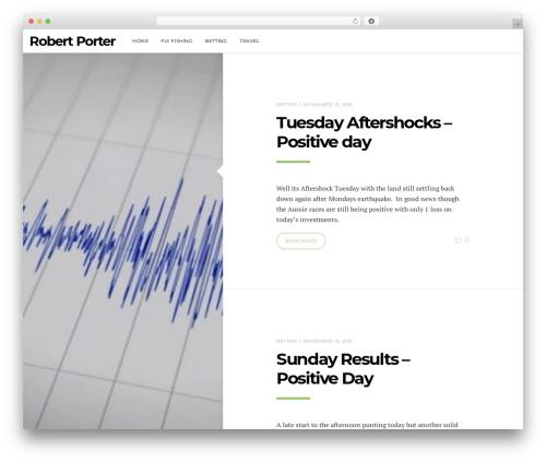 Template WordPress Pixie - robertporter.co.nz