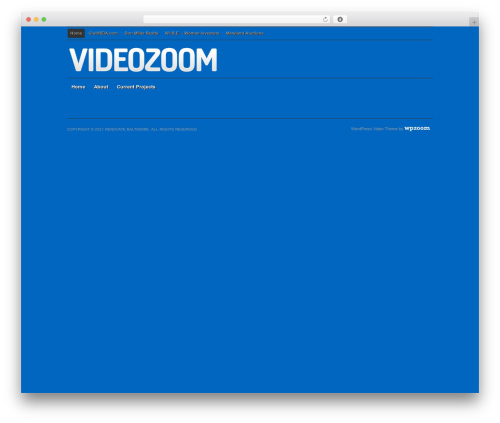 Videozoom WordPress video theme - renovatebaltimore.com