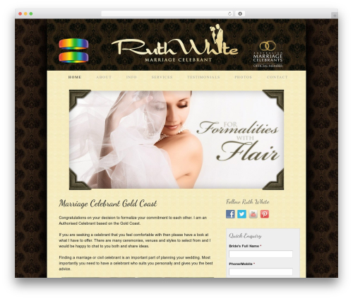 WordPress template Thesis - ruthwhite.com.au