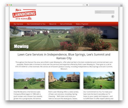 WordPress theme Catch Responsive - robslawnmowing.com