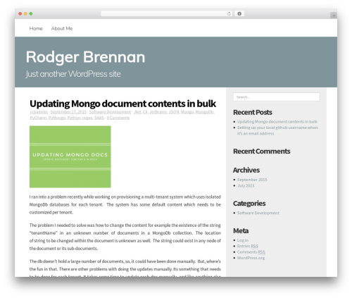 Best WordPress theme Mayer - rodgerbrennan.com