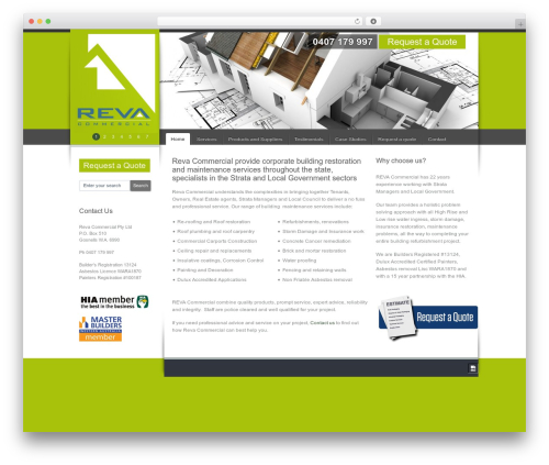 Celta Business top WordPress theme - revacommercial.com.au