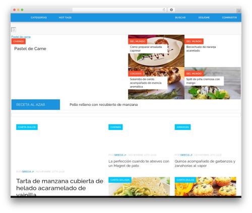 Codilight WordPress theme - revistacocina.com