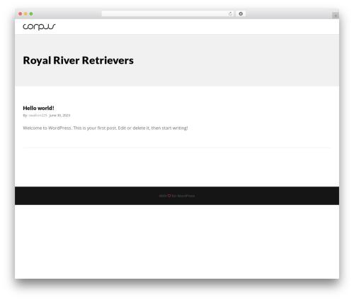 Corpus free WordPress theme - royalrivergoldens.com