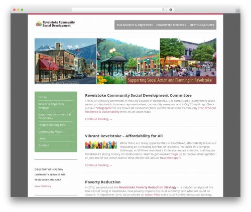 Revolution best WordPress theme - revelstokesocialdevelopment.org