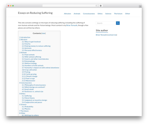 Spacious WP theme - reducing-suffering.org