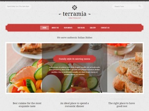 Terramia WordPress restaurant theme