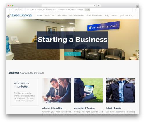 Trade WordPress theme - rucker.com.au
