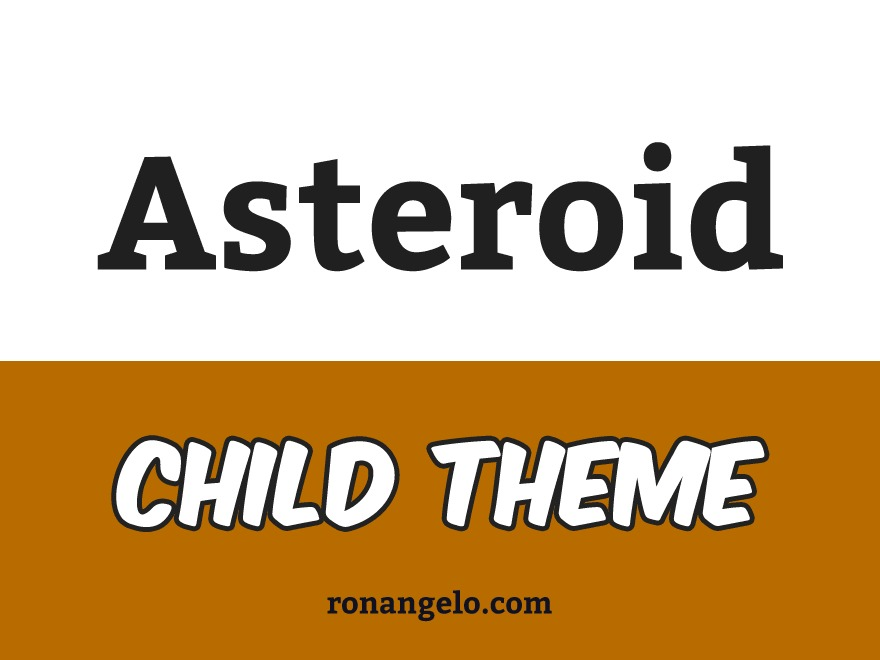 WordPress theme Asteroid Child