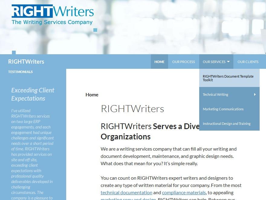 WordPress theme RIGHTWriters Theme