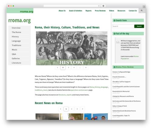 WordPress theme SmartAdapt - rroma.org