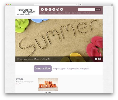 Yasmin theme WordPress - responsivenonprofit.com
