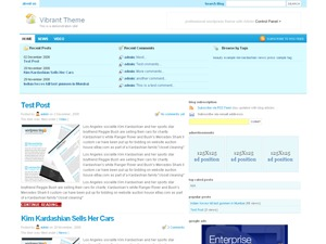 amazing WordPress page template