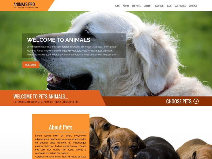 Animals Pro WordPress theme image