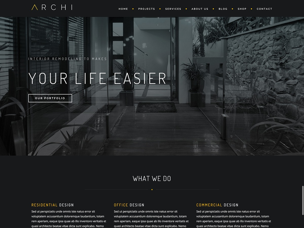 Archi Child template WordPress