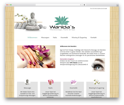 Avada premium WordPress theme - wanidas.de