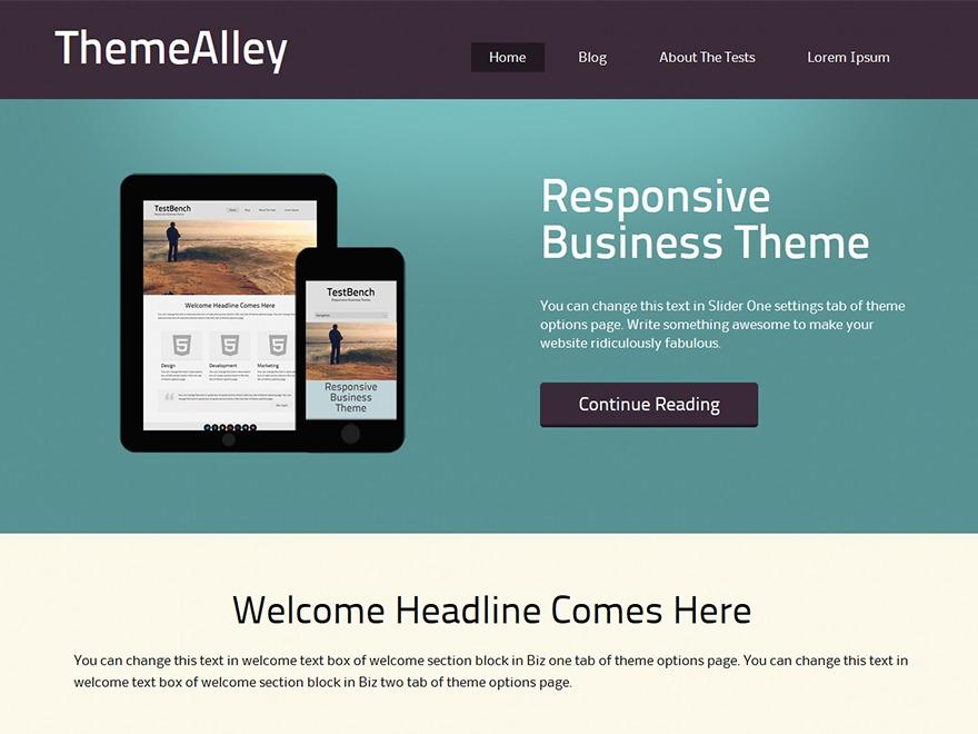 Avoca business WordPress theme